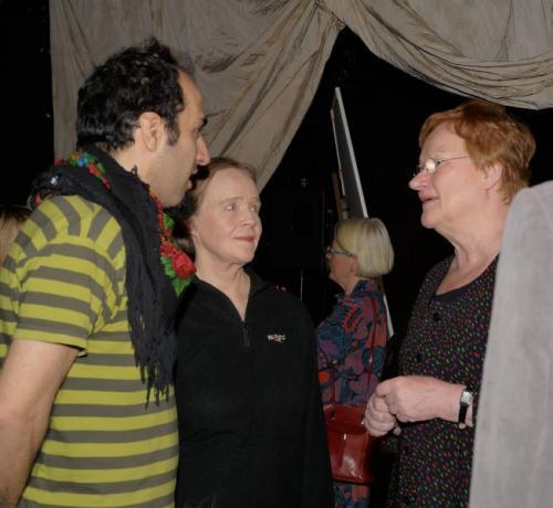 Marouf Majidi and Tarja Halonen